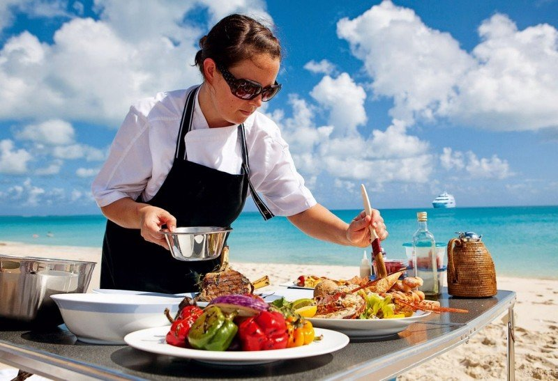 yacht charter beach barbeque