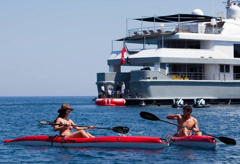 yacht charter kayaks