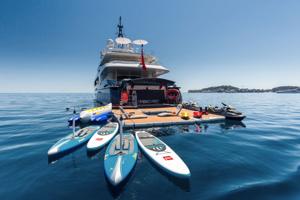 yacht charter water toys