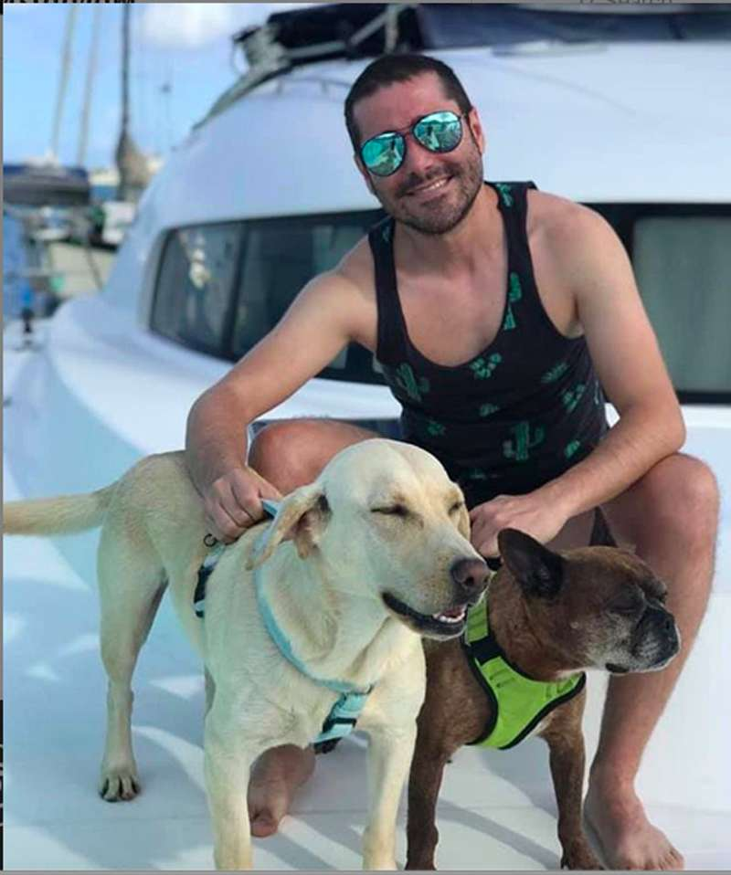 charter yacht dogs