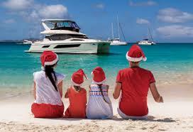 family beach christmas bvi