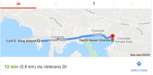 getting to yacht haven grande