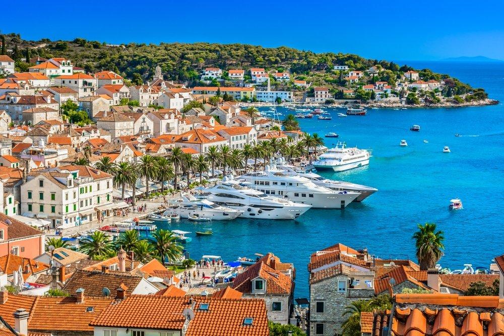 sailing from split, croatia
